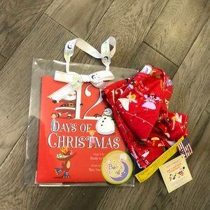 Books to Bed Christmas Pajama and book set, 12 mos